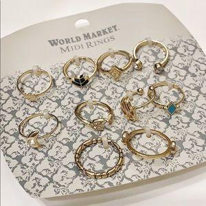 NWT World Market midi rings